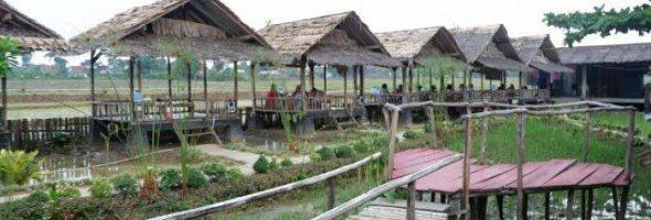 Pilihan Tempat Makan 'Outdoor' di Lampung, Rasakan Sensasi Bersantap di Aliran Sungai